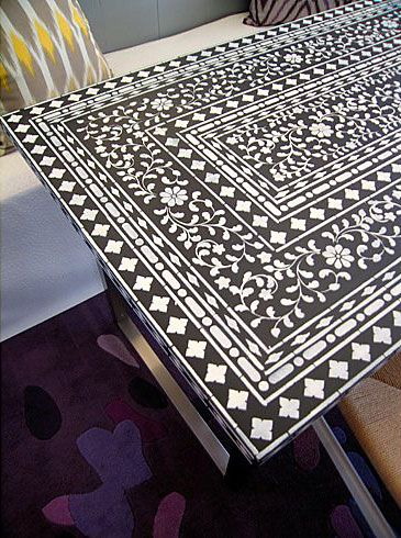 Cutting Edge Stencils - Indian Inlay Furniture Stencil Kit by Kim Myles