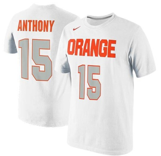 b3aae6cc3299 Nike Carmelo Anthony Syracuse Orange Future Star Jersey Replica T-Shirt