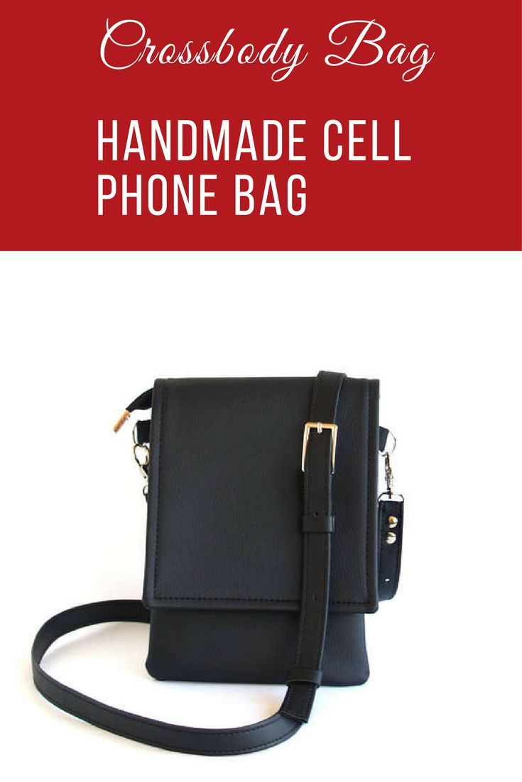 Small black cross body bag. Perfect size for your cell phone. #cellphonebag #crossbody #affiliatelink