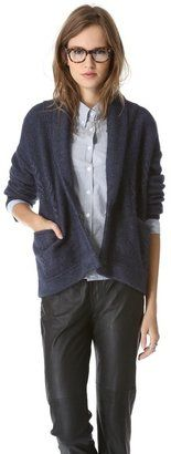Band of outsiders Cash Cable Knit Cardigan Band Of Outsiders