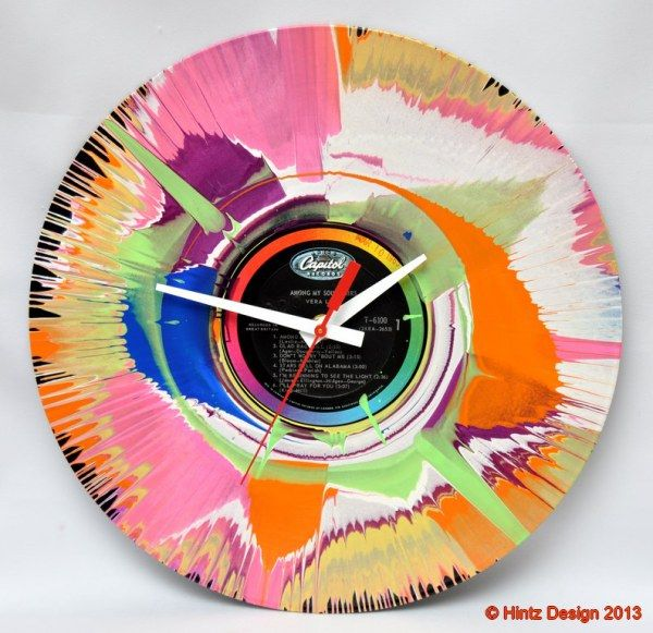 Old timeless vinyl records meet new waves of colors