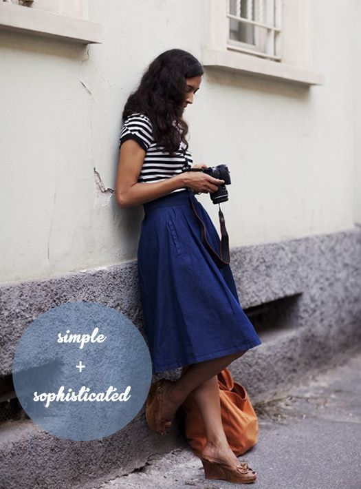 Simple summer style - cute French-Euro inspired outfit