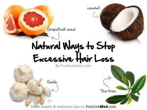 Natural Ways to Stop Excessive Hair Loss