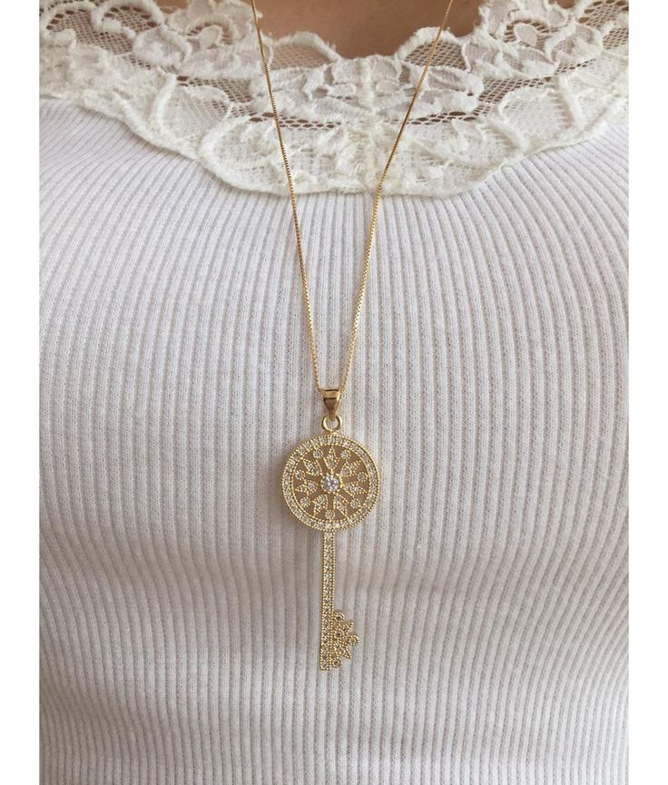 Compre Colar chave Tiffany cravejado folheado ouro 18k na Waufen Semijoias e Bijuteiras Finas com ✓ Entrega Rápida e Segura ✓ Pgto em até 12x ✓ Frete Grátis a partir de 300 reais em compras.