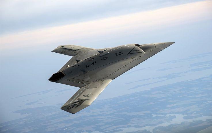 X-47B Pegasus, drone, cielo, EE.UU. Fondos de pantalla - 2560x1600