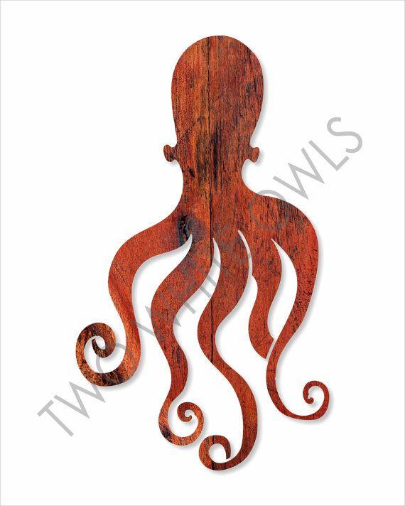 Polpo vivaio arte Oggettistica per la costiera di twowhiteowls