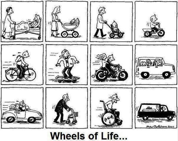 #Wheels of life...from little boy to old man!!!