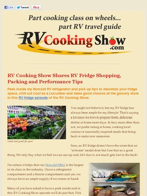 How to pack your RV Fridge.  Do you know the best place in the freezer to keep the ice cream?