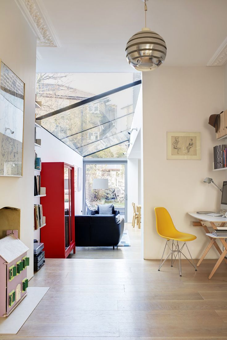 Interior from Chetwynd Road Project, a delightful and light addition to a Victorian London townhouse by Cousins & Cousins