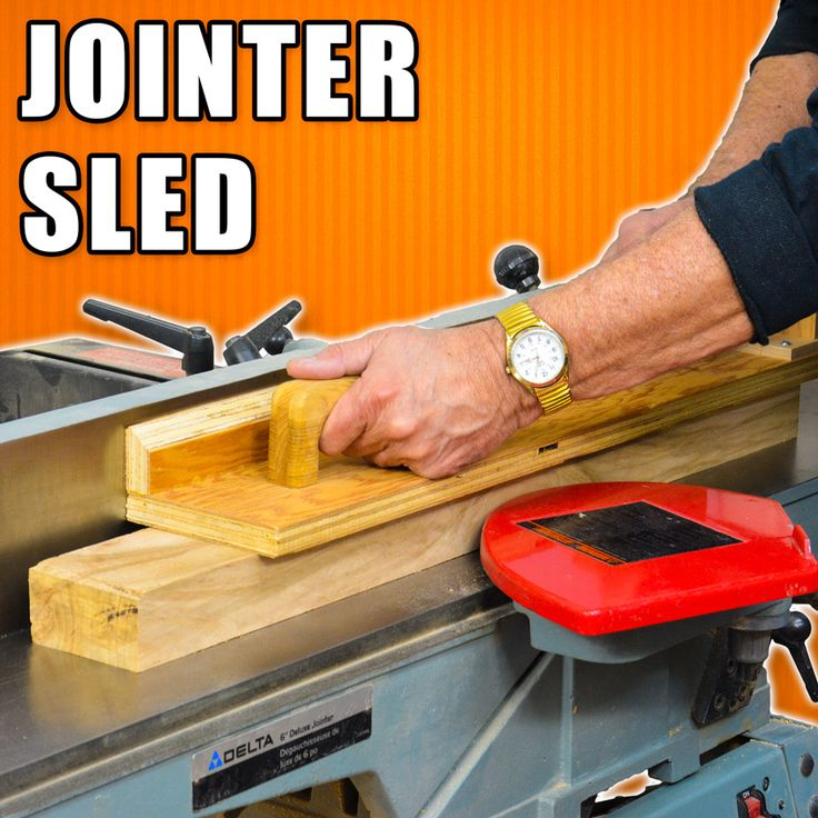 How to Make an Edge Jointing Sled Jig / Edge Jointer Safety Push Block! #woodworking #woodworkingprojects