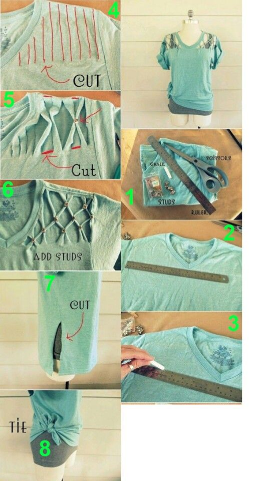 Shirt cut out diy this looks fabulous i gotta try this out                                                                                                                                                     More