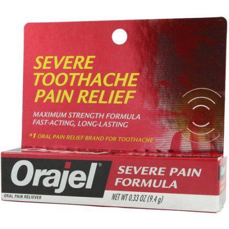 Orajel Severe Tooth Pain Formula, .33 OZ (Pack of 6)