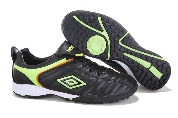 Umbro Cup TF Football Boots Black Green Yellow