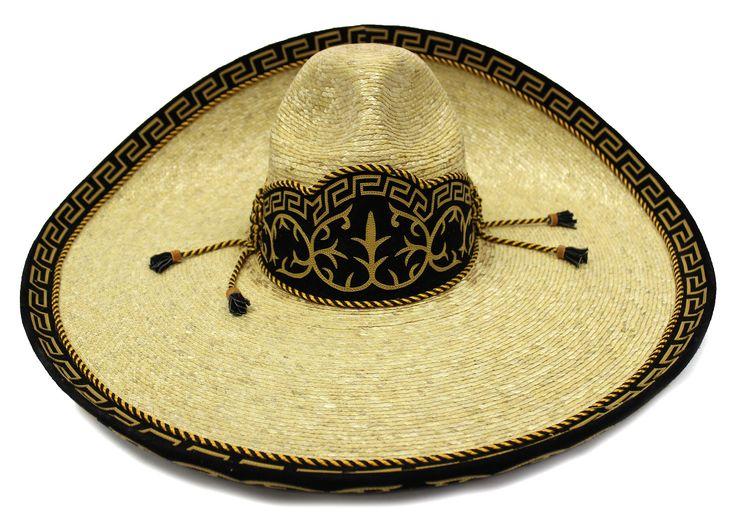 """7 1/2"""" (MX 60) Sombrero Charro """"Paja de Trigo"""""""