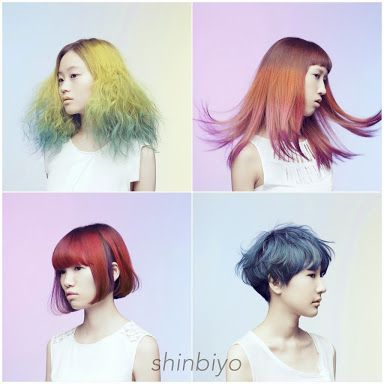 All the colors! Creative haircolor