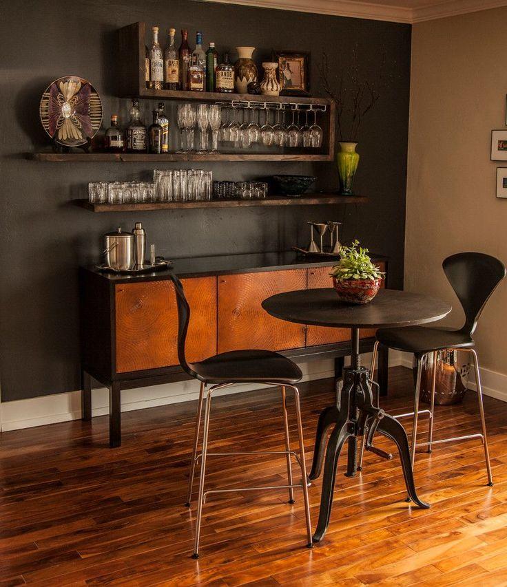 Домашний мини-бар: 80 лучших интерьерных идей для создания небольшой винотеки http://happymodern.ru/domashnij-mini-bar/ Мини бар в стиле ретро