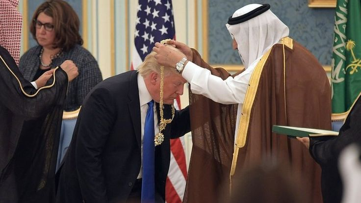A look back at some of the contentious moments during the US president's trip to Saudi Arabia.