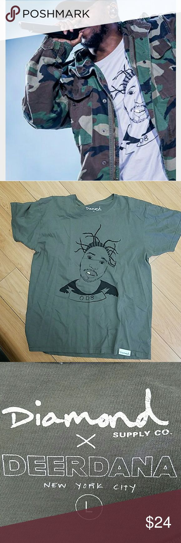 ODB Diamond Supply Company size large If its good enough for Kendrick Lamar, its good enough for you. Excellent condition! Diamond Supply Co. Shirts Tees - Short Sleeve