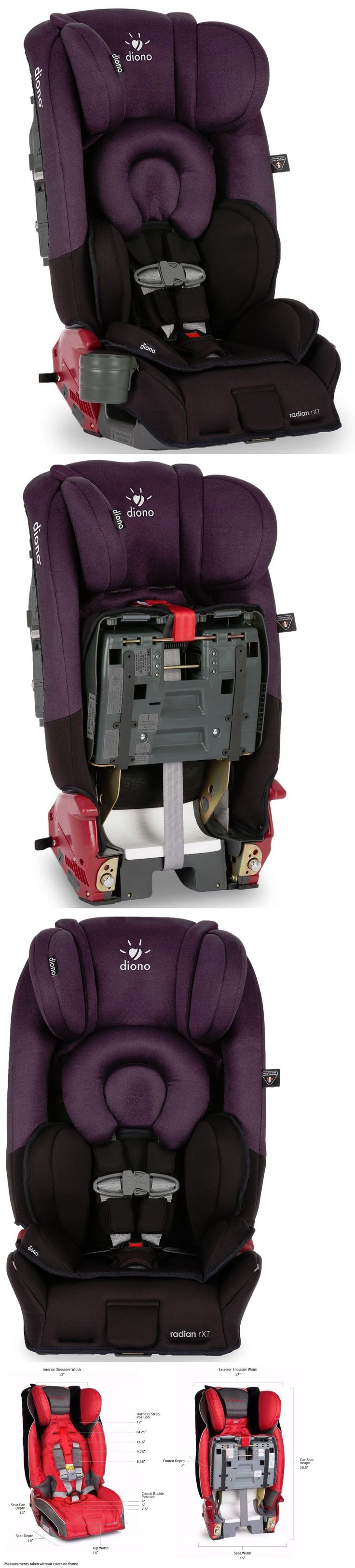 Booster to 80lbs 66694: Diono Radian Rxt Black Plum Convertible + Booster Folding Child Safety Car Seat -> BUY IT NOW ONLY: $284.99 on eBay!
