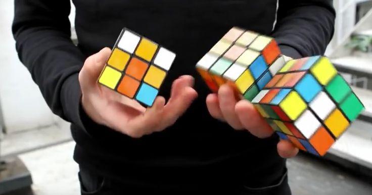 Resolviendo 3 cubos de Rubik haciendo malabarismos en menos de 20 segundos [Video]  proZesa curiosidad video