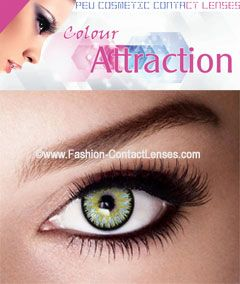 Color Attraction Chrysolite Contact Lenses (PEU)