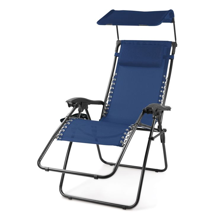 Portable Rv Or Camp Chair Lounger With Footrest