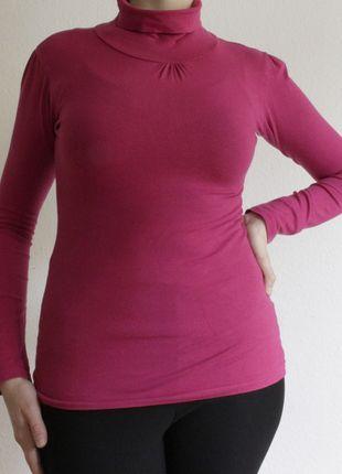 Kaufe meinen Artikel bei #Kleiderkreisel http://www.kleiderkreisel.de/damenmode/langarmlig/126299412-pinker-rolli-aus-baumwolle-von-ca