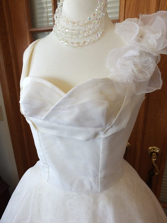 handmade silk 1950s wedding dress by RetroVintageWeddings on Etsy, $535.00