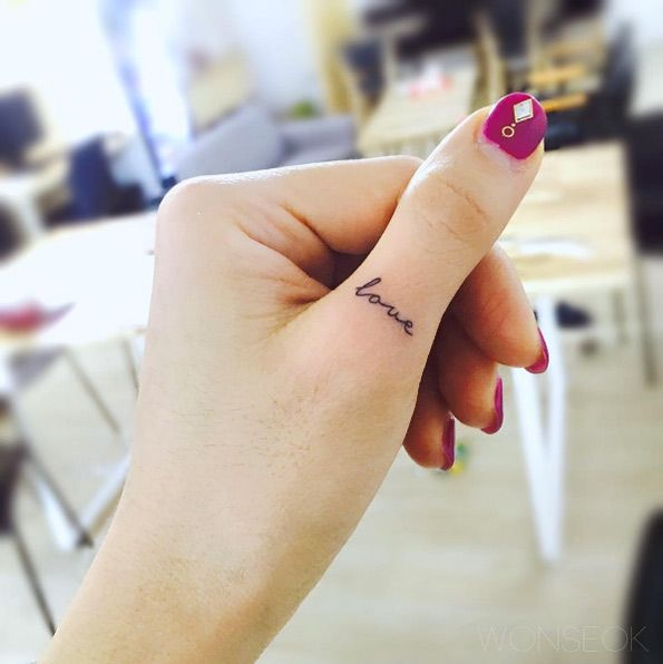 LOVEly finger tattoo by Wonseok