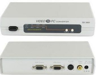 Video/S-Video to VGA Converter connects directly and convert videos quickly.