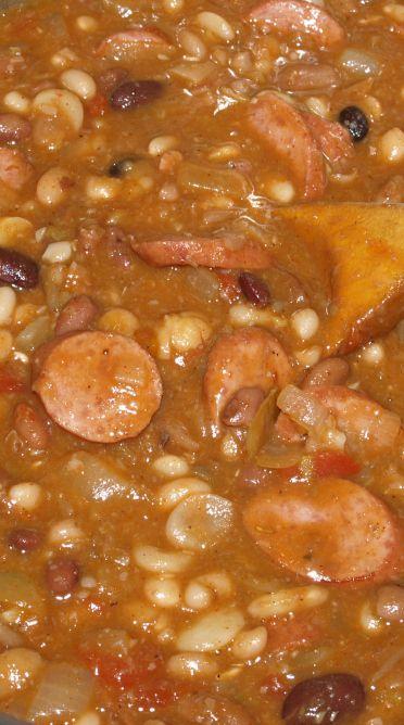 Cajun 15 Bean Soup w/ Smoked Turkey Sausage
