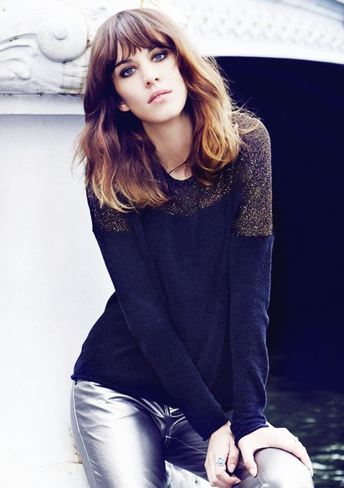 """Alexa Chung. I like to think she's totally fooling us with this """"I'm purposefully styling my hair to look messy and disheveled for that sexy, nonchalant effect."""" but in reality she just rolled out of bed. -Thalia"""