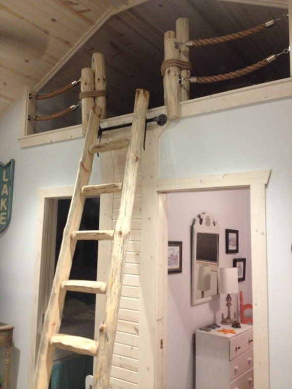 Library Loft Ladders Stands Up Custom Made To Fit Etsy Loft Ladder Library Ladder Loft