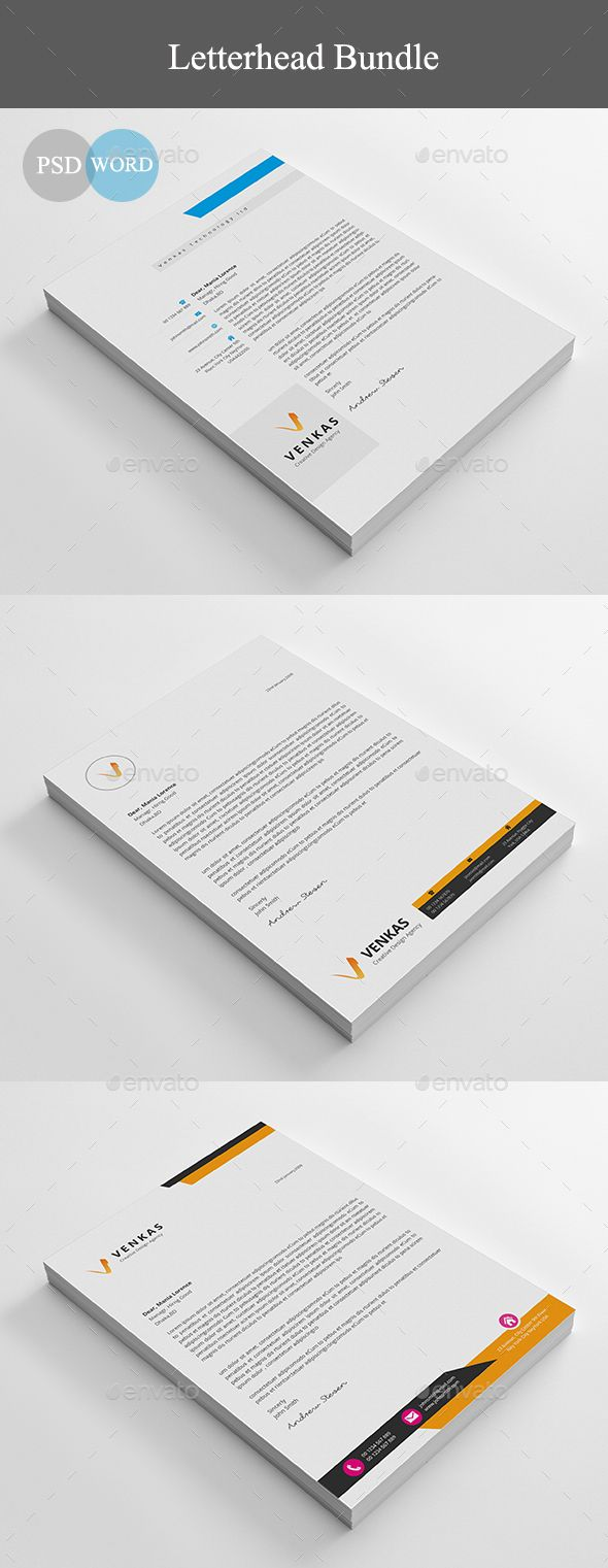 Letterhead - Stationery Print Templates Download here: https://graphicriver.net/item/letterhead/19940111?ref=classicdesignp