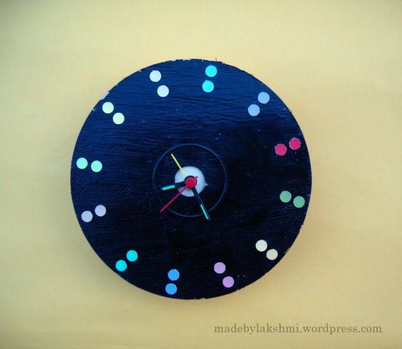 Cd Clock for Homemade Wall Decor