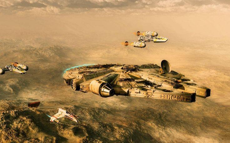 Скачать обои звездные войны, тысячелетний сокол, раздел космос в разрешении 1680x1050