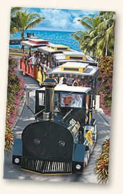 Key West's Conch Tour Train - a must do while visiting the Florida Keys. The train tour has been entertaining visitors to the Island City since 1958. The Conch Tour Train is one of the most popular Key West attractions, entertaining over 15 million guests on their tour.