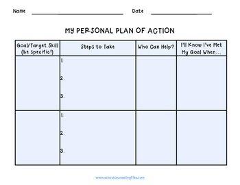 Goal setting worksheet identifying and analyzing goals