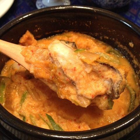 ♫ キムチと牡蠣のおからチゲ ♪
