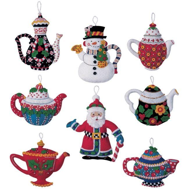Weekend Kits Blog: Bucilla Felt Christmas Ornaments Kits
