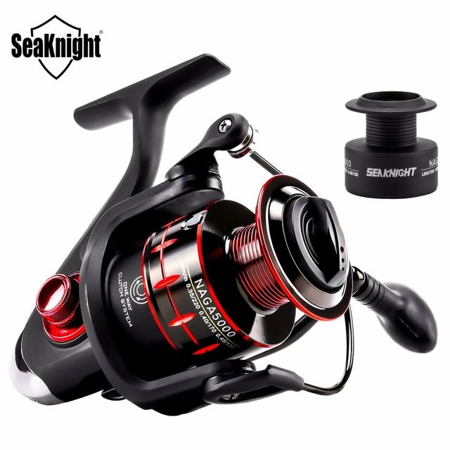 SeaKnight NAGA 2000/3000/4000/5000 Spinning Reel 5.2:1/4.7:1 11BB Spinning Fishing Reel & Free Spare Spool Carp Fishing Tackle       Feature