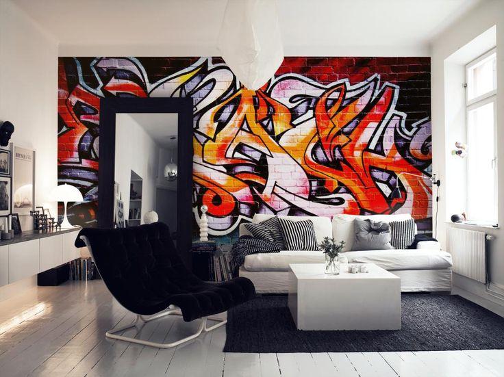 Hot graffiti tapet