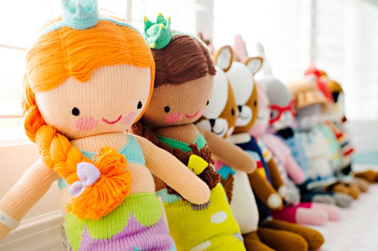 Nine new cuddle+kind dolls, each with their own name, birthdate and personality that kids will love. What a bunch of cuties. For every doll sold, 10 meals go to children in need.