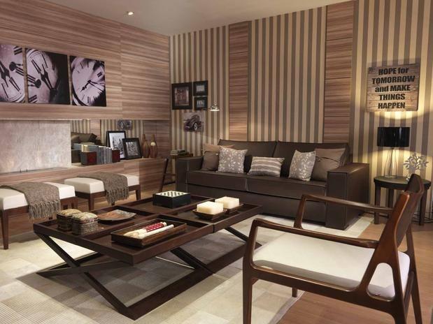 78 best images about salas de estar e salas de tv on for Paredes decoradas para salas