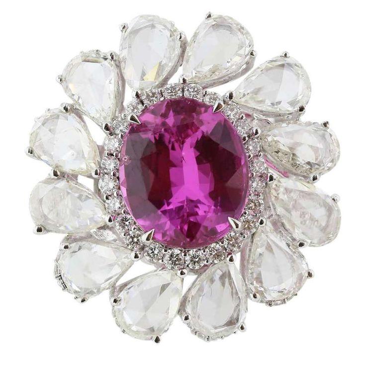 http://rubies.work/0307-sapphire-ring/ 6.04 Carat GIA Natural No Heat Pink Sapphire  Diamond Ring