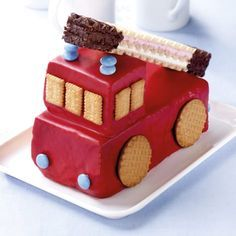 Fire department cake with aerial ladder – Rezepte Kinder