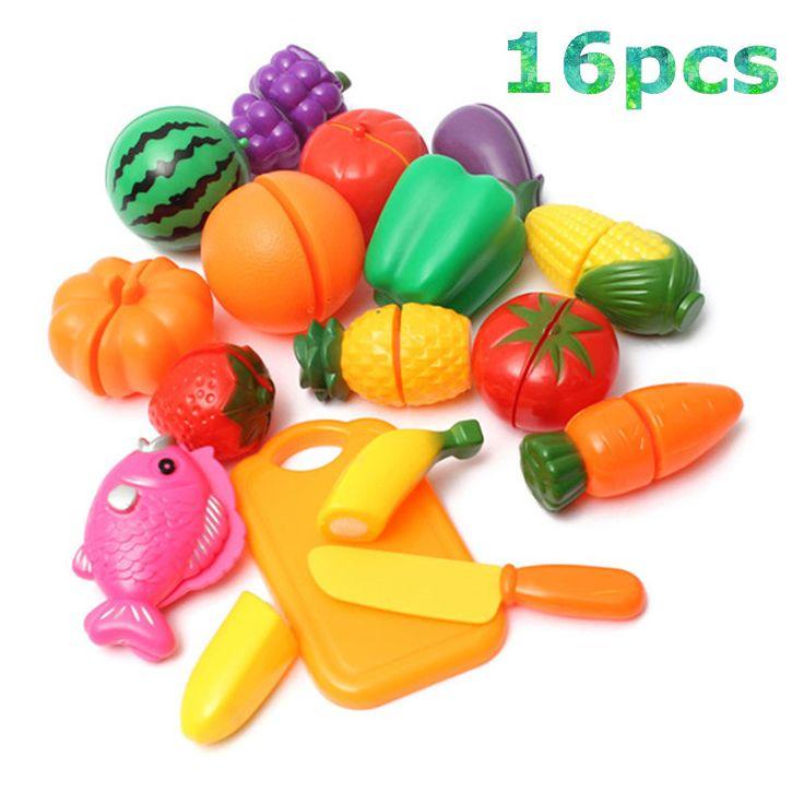 Plastik dapur makanan sayuran buah cutting toys anak pretend play pendidikan kitchen toys masak cosplay untuk chiledren