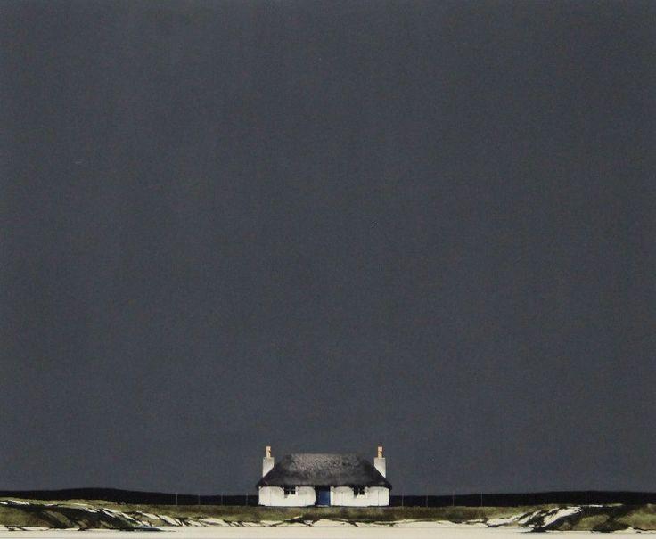 Ron Lawson, Cottage on Uist Coast, Watercolour & Gouache | Scottish Contemporary Art