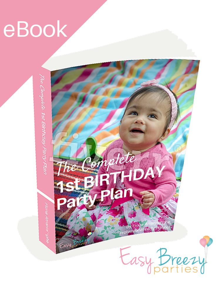 The Complete First Birthday Party Plan A COMPREHENSIVE GUIDE to throwing an amazing first birthday party for your baby, written by an expert party planner. Planning a successful first birthday party can be overwhelming. Fear not! I'm an expert party planner, and I'm going to walk you through everything you need to do... #easybreezyparties