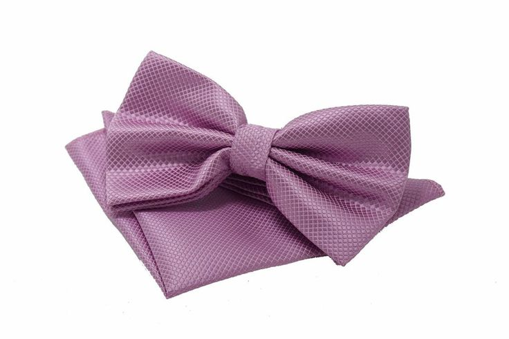 Ariana Bow Tie & Pocket Square Set    Complement your classy suit with the perfect bowtie and pocket square in matching colors and materials.    Bowtie measures 12cm by 6cm. Pocket square handkerchief measures 22cm by 22cm.  Color: Pink    First time using a pocket square? Check out our nifty guide to the 5 most popular folds for your pocket square.    Same design available in multiple colors. Collect them all!